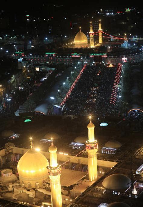 aerial view  imam hussein shrine  imam abbas shrine