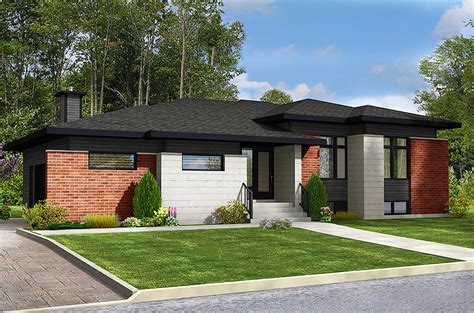 3 bed modern ranch home plan 90291pd architectural