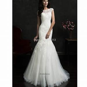 hot sale two in one lace detachable wedding dresses With wedding dress sale
