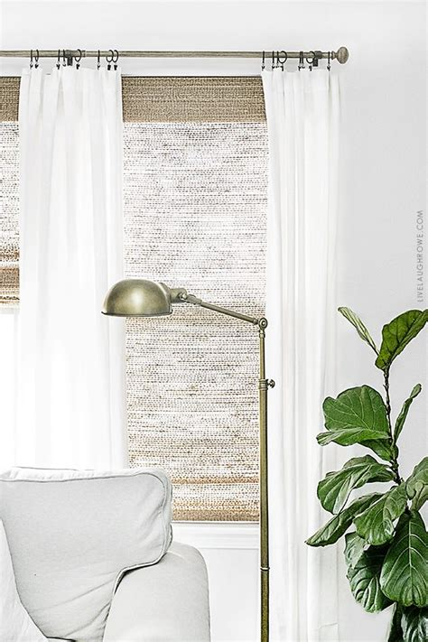 neutral window treatments farmhouse style  laugh rowe