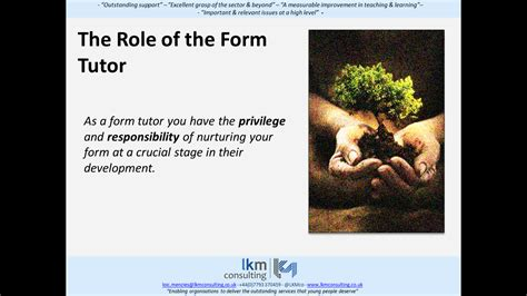The Role Of The Form Tutor Lkmco