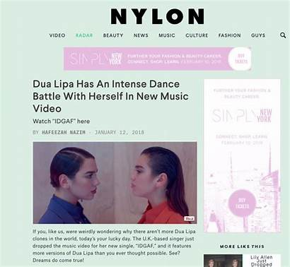 Dua Lipa Idgaf Nylon Shares Willig Amanda