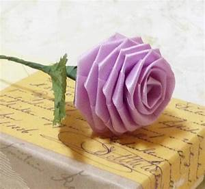 Papierfaltkunst Origami Rose fresHouse