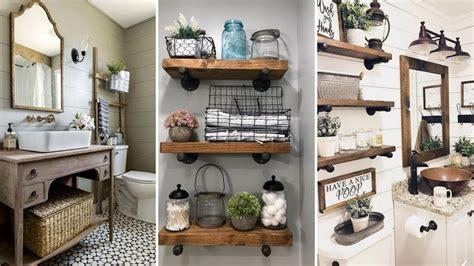 Home Decor Ideas Bathroom by Diy Rustic Farmhouse Style Bathroom Decor Ideas Home