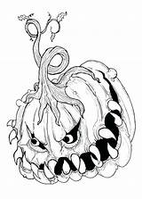 Scary Monster Coloring Really Printable Creepy Getcolorings sketch template