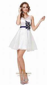White Cocktail Dresses With Cutout BackWhite Graduation Dresses For High School Seniors | Fancy ...