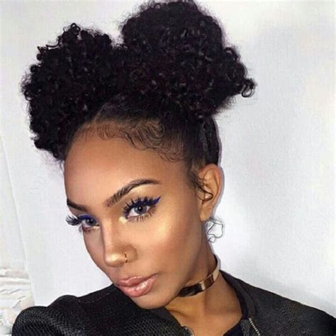 cute  buns curly natural hairstyle curly hair natur