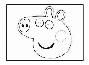 your child can cut out and colour in this peppa pig face With peppa pig cake template free