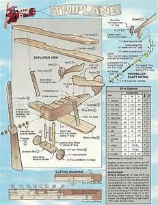 #1734 Triplane - Whirligig Plans - Outdoor Plans Wooden