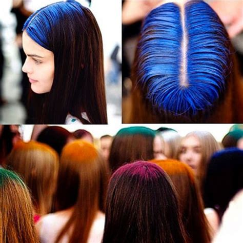 colored roots 2015 s strangely gorgeous hair trend colorfully dyed roots