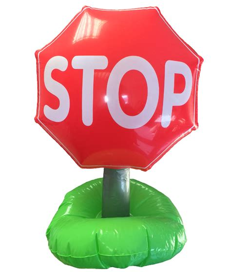 stop road traffic sign inflatable novelty blow  toys