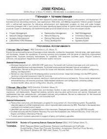 resume sles for information technology director information technology resume sales director
