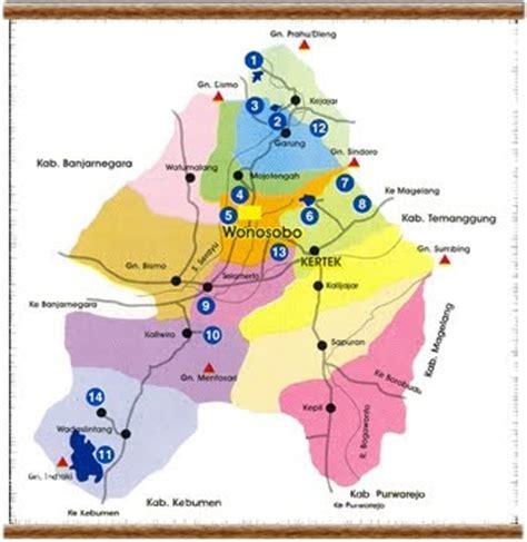 gambar peta kabupaten wonosobo  kota gambar peta