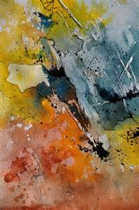 Pol Ledent Watercolor Paintings Abstract