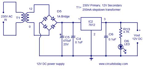capacitor cap   full wave rectifier circuit