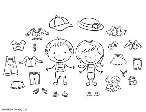summer fun coloring pages summer clothes  printable