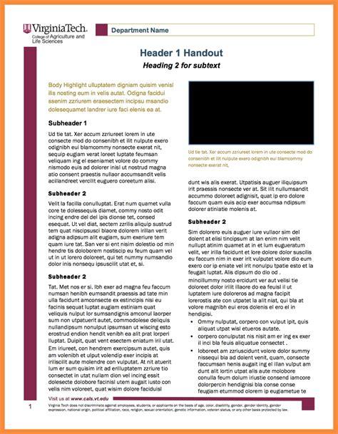 handout templates 5 6 handout templates bioexles
