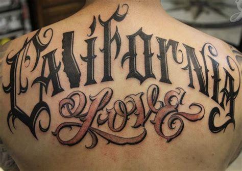 California Love Tattoo On Upper Back