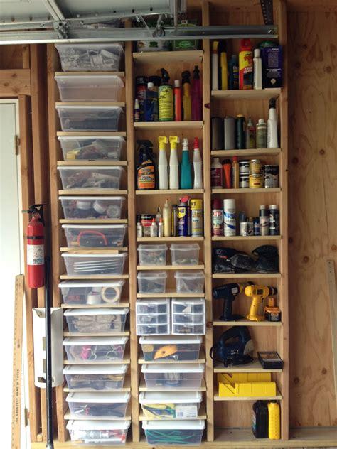 Garage Shelving Between Studs garage storage using adjustable shelving in space between