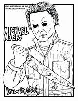 Coloring Pages Myers Michael Jason Voorhees Drawing Halloween Printable Draw Vorhees Adult Drawings Too Getdrawings Muchael Hallween Tutorial Colors Therecipeworld sketch template