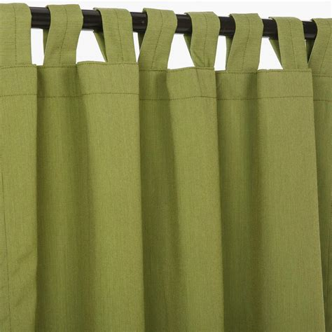 canvas turf sunbrella outdoor curtains with tabs