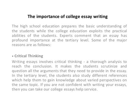 college education essay importance  college education