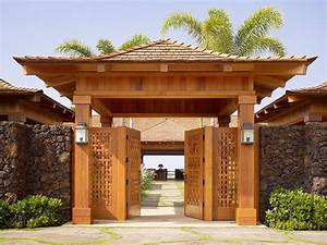 hawaii entrance gate designs landscape tropical with