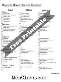 Free House Cleaning Checklist Daily