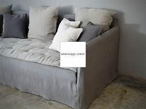 Canapé En Lin Froissé : canap en lin froiss gris mila canap s sur mesure en lin lav pinterest interior design ~ Teatrodelosmanantiales.com Idées de Décoration