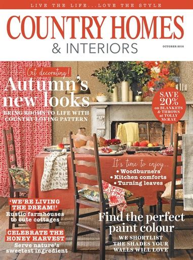 country home and interiors magazine country homes interiors magazine october 2016
