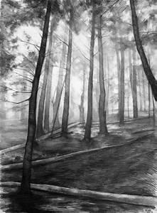dark forest ORIGINAL drawing by Katarzyna Kmiecik / pencil ...