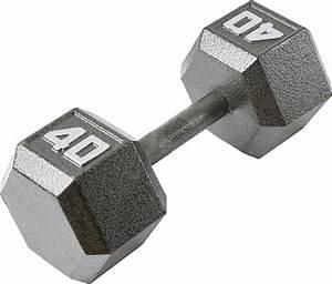 Fitness Gear 40 Lb Cast Hex Dumbbell