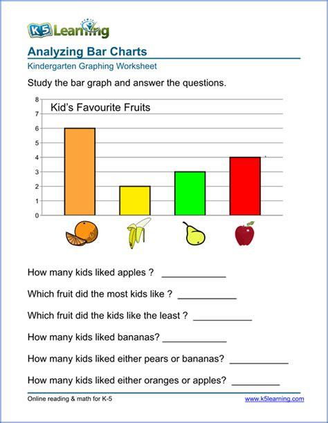 kindergarten graphing worksheet kindergarten math