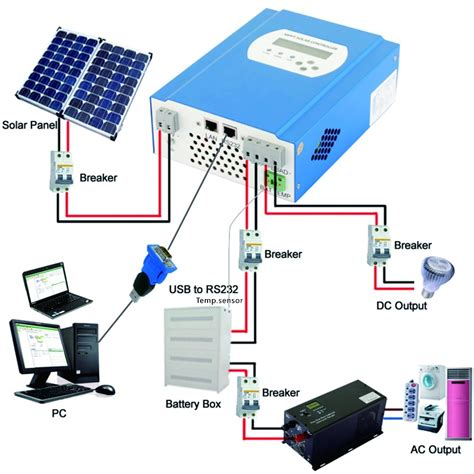 Lcd Mppt Solar Battery Charger Controller Charge
