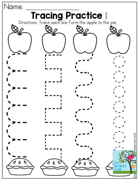 kindergarten worksheets apples tracing practice and tons of other pages for back to