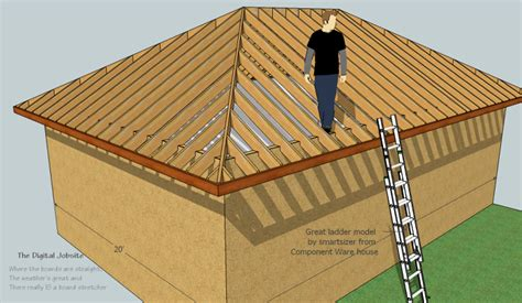 Hip Roof Framing De-mystified By Modeling