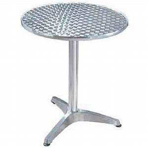 Table Ronde Aluminium : table ronde bistrot aluminium diam 60 cm cuisine maison ~ Teatrodelosmanantiales.com Idées de Décoration