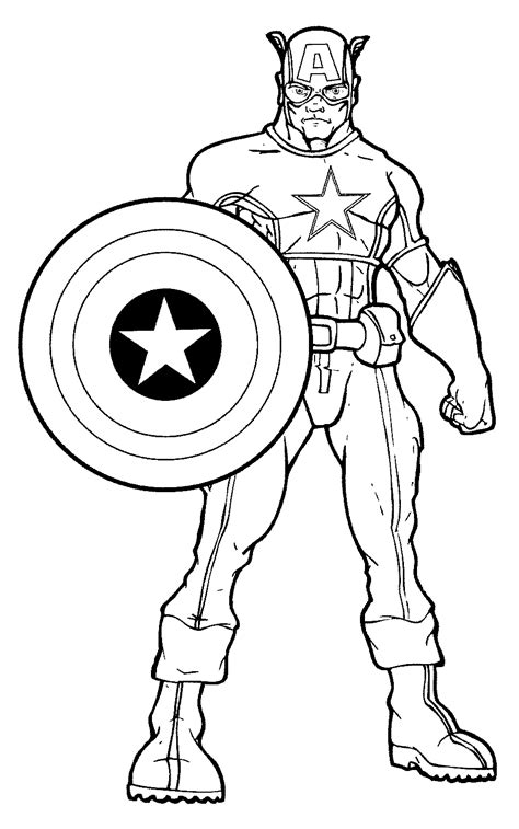 kumpulan gambar captain america untuk paud tk dan sd mi