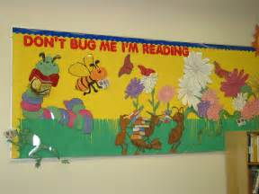Spring Library Bulletin Board Idea