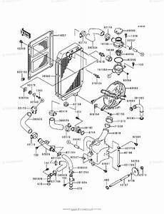 Kawasaki Motorcycle 1997 Oem Parts Diagram For Radiator