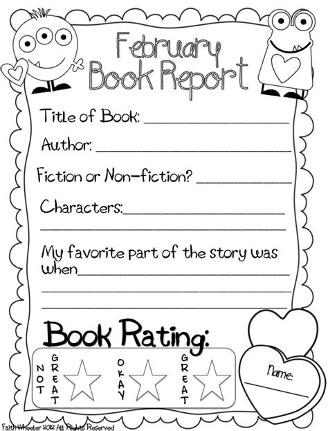 6 Best Images Of 1st Grade Book Report Printable  2nd Grade Book Report Template, First Grade