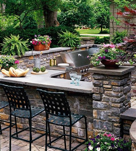 functional outdoor kitchen four generations one roof