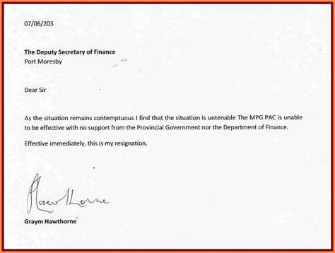 sample resignation letter  month notice period