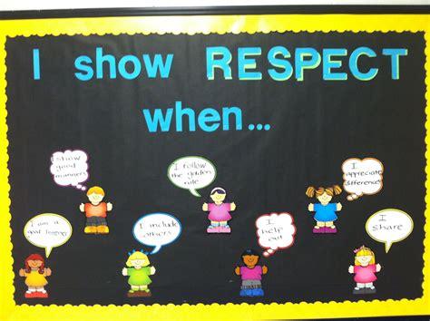 character education bulletin board respect respect