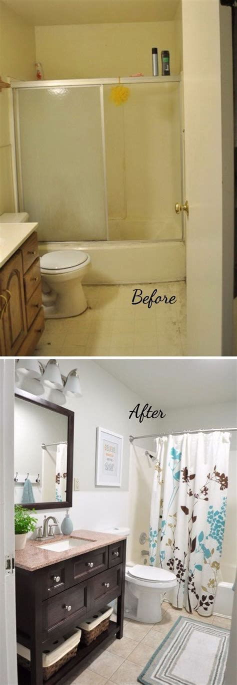 Before And After 20+ Awesome Bathroom Makeovers Ideas