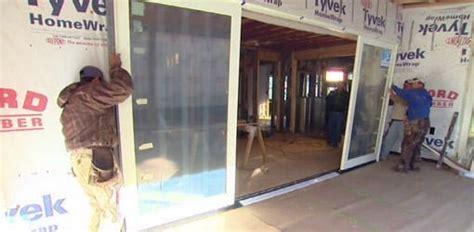 installing sliding glass door unit  kuppersmith project