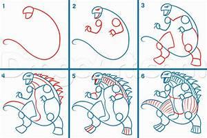 How to Draw Godzilla 2014, Step by Step, Movies, Pop ...