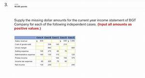 Solved: Supply The Missing Dollar Amounts For The Current ...