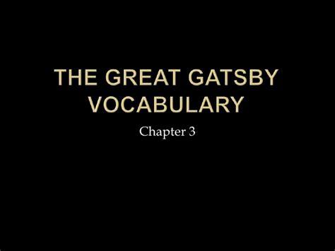 gatsby vocabulary chapter 3