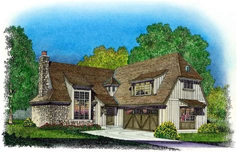 tudor style house plan    bed  bath  car garage country style house plans